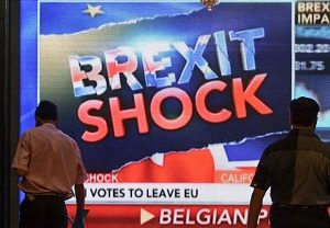 Brexit Shock image on news program