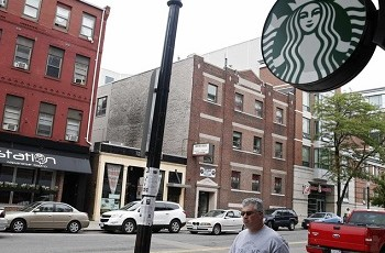 a new Starbucks, as asymbol of a gentrifying neighborhood