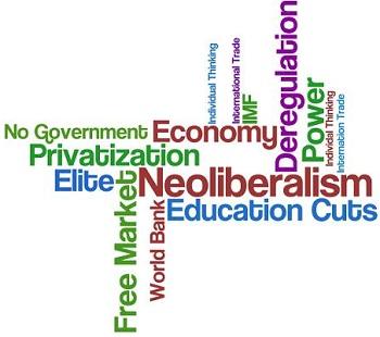 Word chart of neoliberalism