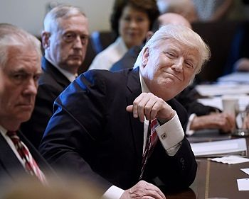 President Trump at a Cabinet Meeting 2017