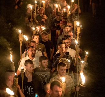 White Supremacists with torches in Charlottesville