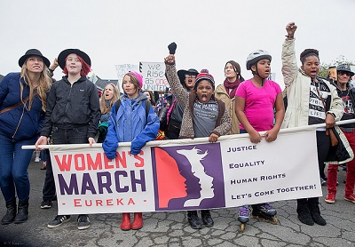 Young protesters at the 2017 Women's March in Eureka
