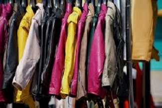 a row of women's jackets